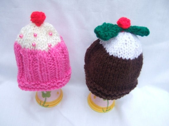 cupcake egg cosy knitting pattern pdf file