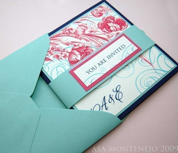 The Elka Wedding Booklet Invitation Sample Set