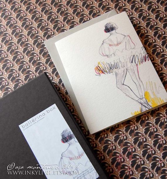 The Ballerina Box- 8 pack blank cards