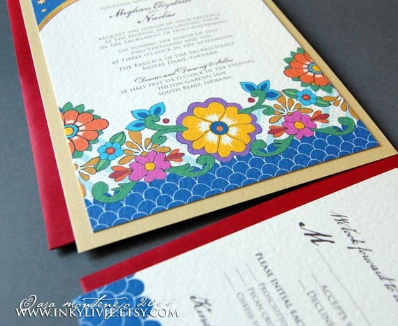 NEW: The Talavera Wedding Invitation Sample Set