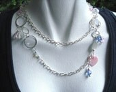 Limited Edition...Violet Blush Asymmetrical Glam Necklace.