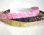 Skinny Headbands for Girls - Stocking Stuffer Sets - Chocolate Dots