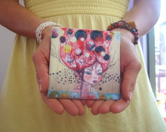 The world according to Pinkie, ceramic art tile