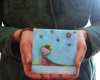 here comes the queen, ceramic art tile