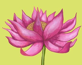 lotus, ceramic art tile