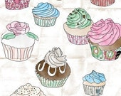 I heart cupcakes ACEO