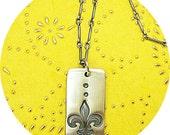 Decatur Street-Fine Silver Dogtag Necklace