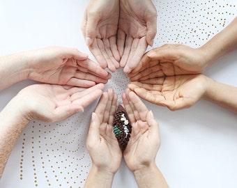 Crochet sculpture - blooming seed