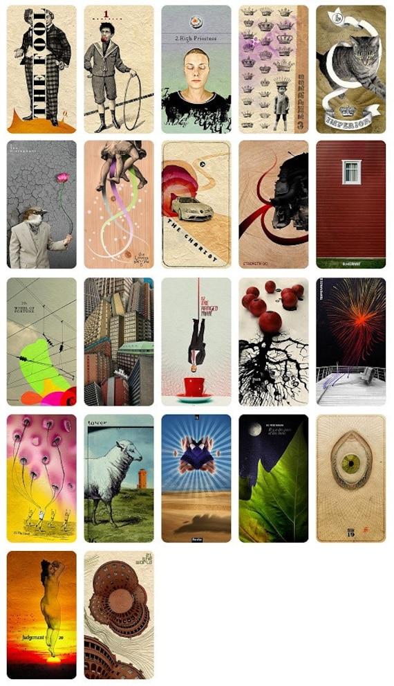 Set Of Tarot Cards 22 Cards