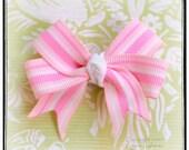 Adore Me I Am Pretty in Pink Preppy Stripes No Slip Hair Clip