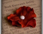Spanish Lady Deep Smoky Burnt Red Hydrangea Flower No Slip Hair Clip