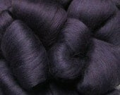 Merino Wool Top for Spinning or Felting - 1 ounce - Plum