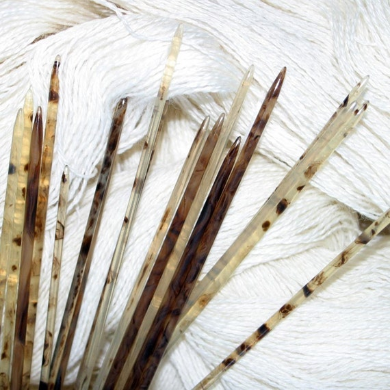 Knitting Needles Mm To Us : Dp knitting needles inch size us or mm biodegradable