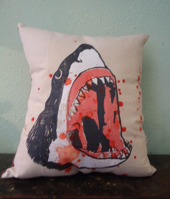 BLOODY SHARK PILLOW