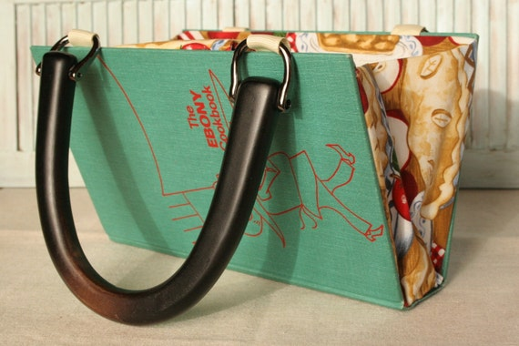 The Ebony Cookbook.....SALE......Book Purse