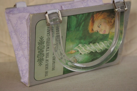 Nancy Drew...The Sign of the Twisted Candles AND Password to Larkspur Lane....Book Purse