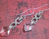 CHICAGO- vintage rhinestone crystal earrings