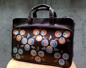 Brown briefcase bag,12 in laptop bag, faux leather, CHINTAMANI