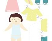 Paper Doll - Girl - Printable PDF