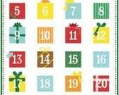 Printable advent calendar PDF