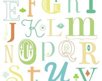 alphabet in neutrals