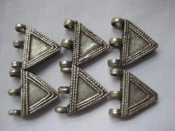 RESERVED for Brianne Ethiopian silver Telsum beads