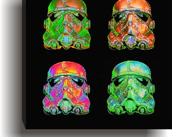 Steampunk Optimus Stormtrooper Pop Art  Warhol Giclee print  Star Wars Art