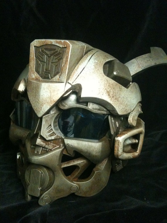 Steampunk Junkyard  Bumble Bee Helmet Transformers  Life Size Cosplay  Battle damaged