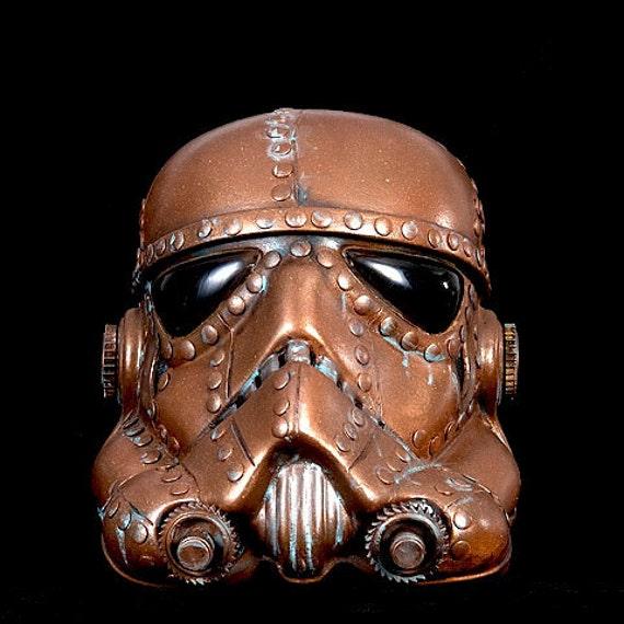 Custom Welding Helmets >> Steampunk Storm Trooper Helmet Star wars Life Size Copper