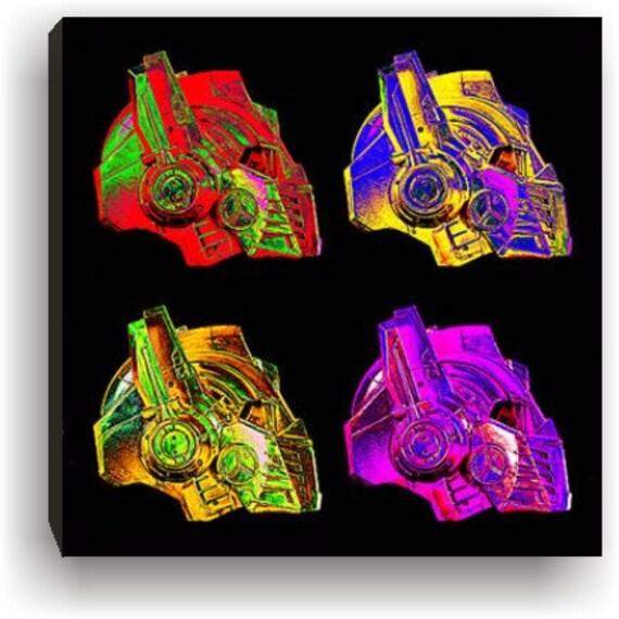 Transformers Optimus Prime Helmet profile Pop Art  Canvas art print  Posterized