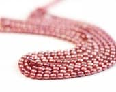 20 Dusty Pink Rice/Oval Pearls