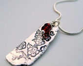 Cherry Blossom Artifact Recycled Silver Pendant Necklace
