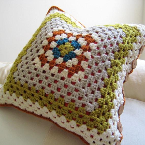 Crochet Pillow Cover in Summer Sunrise