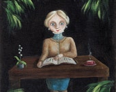 Reserved for CameliasByTheLake - The Botanist - original painting
