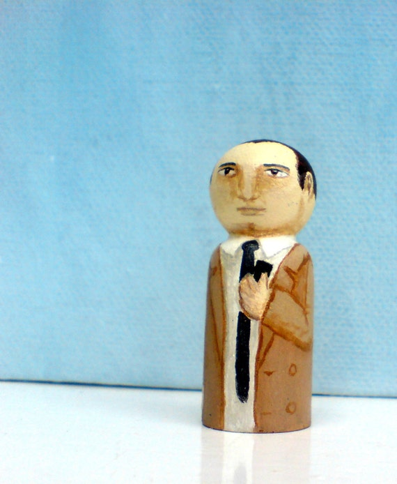 Agent Dale Cooper Twin Peaks David Lynch Peg Doll 1.5 inches tall