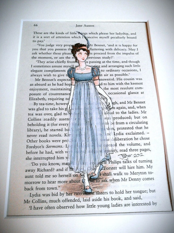 Regency Dress - Jane Austen Pride and Prejudice - 5 x 7 print