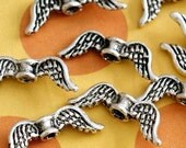 Sale 20pcs 19mm Antique Silver Angel Wing Spacer