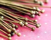 100ps 2.3 inch Antique Bronze Ball Pins