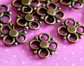 Clearance 100pcs Antique Brass Clover Flower Connectors-Lead Free