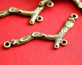 Sale 12pcs Antique Bronze Branch Connectors