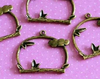 Sale Nickel Free 20pcs ANTIQUE Bronze PENDANTS EA11058Y-AB