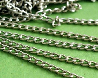 SALE 5 Feet Twist Nickel Tone Aluminum Chains