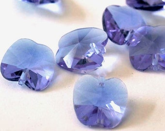 Clearance 8pcs 14mm Transparent Orchid Faceted Glass Apple Beads GA14x14-31Y
