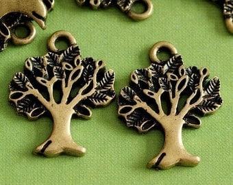 Sale Lead Free 20pcs antique Bronze finish tree pendants ZA10394