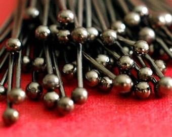200pcs 20mm Gunmetal Finish Ball Pins FINDING