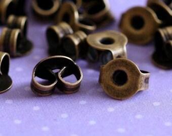 Sale 100pcs Antique Bronze Earring Backs