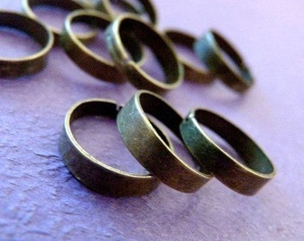 Sale 10pcs Antique Bronze Ring Base Blank findings R4