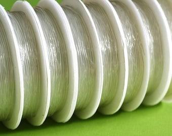 1 Roll x 6M Clear Elastic Wire, single thread, 1mm