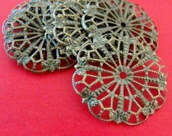 Sale 10pcs 42mm Antique Bronze Filigree Circle Wraps A1