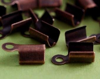 Wholesale 500pcs Antique Copper finish large Cord Tip End Caps